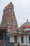 Индусский висок в Pondicherry стоковое фото