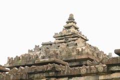 Индусский висок Sambisari - верхняя часть центральной части стоковое фото