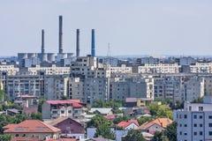 Индустриальная область в Бухарест. Стоковое Изображение