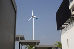 Индустрия ветра турбины, альтернативная энергия Стоковые Изображения RF