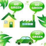 индустрия дома экологичности автомобиля Стоковое Изображение RF