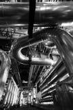 индустрия принципиальной схемы bw пускает пробки по трубам Стоковое Изображение