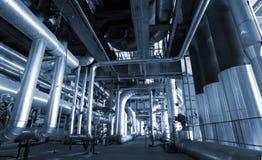 индустрия фабрики прокладывает трубопровод сталь Стоковая Фотография RF