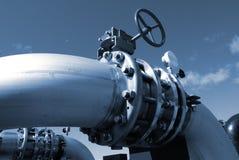 индустрия фабрики прокладывает трубопровод сталь Стоковые Изображения