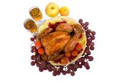 индюк зажаренный в духовке цыпленком Стоковая Фотография RF
