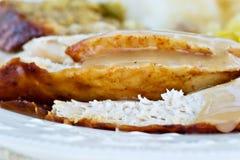 индюк обеда Стоковая Фотография