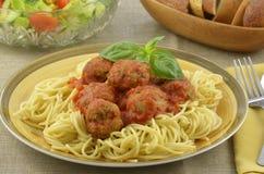 индюк спагетти meatball обеда Стоковые Фотографии RF