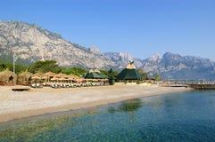 индюк Средиземного моря пляжа antalya Стоковое фото RF