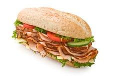 индюк томатов сандвича сыра груди Стоковые Фотографии RF