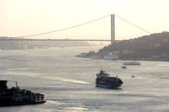 индюк istanbul моста bosphorus Стоковое фото RF