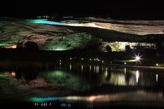 индюк pamukkale ночи стоковые фото