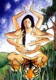 инец богини durga Стоковое Изображение