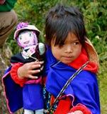инец девушки Колумбии стоковое изображение