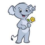 инец иллюстрации слона шаржа смешной Стоковые Изображения RF