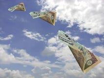инец летания валюты Стоковые Изображения RF