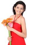 инец девушки цветков маргаритки Стоковая Фотография
