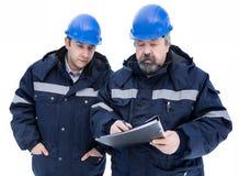 2 инженера в шлеме Стоковые Изображения RF
