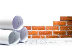 Инженерное проектирование плана строительной конструкции стоковое фото
