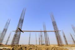Инженерство арматуры на строительной площадке Стоковые Фото