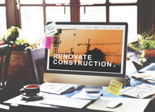 Инженерство строительной конструкции восстанавливает концепцию места Стоковые Изображения RF