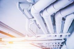 Инженерство трубы водопровода, чистая линия система водообеспечения Стоковое Фото