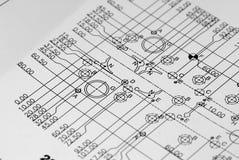 инженерство чертежа Стоковое Изображение RF