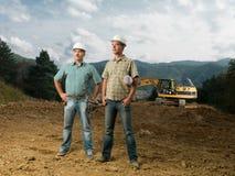 Инженеры по строительству и монтажу на месте Стоковая Фотография RF