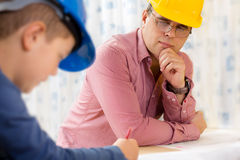 Инженер будущего мальчика Стоковая Фотография