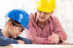 Инженер будущего мальчика Стоковое Изображение RF