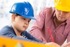 Инженер будущего мальчика Стоковое Изображение