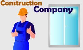 Инженер и окно Стоковые Изображения