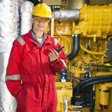 Инженер комнаты двигателя Стоковые Фото