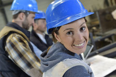 Инженер молодой женщины teamworking Стоковое фото RF