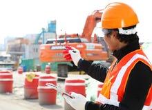 Инженер построителя на работе Стоковая Фотография RF