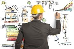Инженер по строительству и монтажу стоковое фото