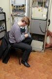 Инженер сети на месте Стоковые Фотографии RF