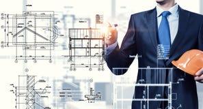 Инженер человека на работе Стоковые Изображения