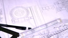 Инженер для чертежей сток-видео