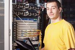 инженер datacenter Стоковое фото RF