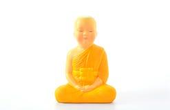 линии Будды предпосылки артефакта чистые metal просто белизна статуи Стоковое Изображение