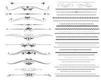 линии правило конструкции различные ornamental Стоковые Изображения RF