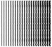 линии сложной формы Комплект 22 передернул линии от тонкого к толщиной Стоковая Фотография