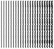 линии сложной формы Комплект 22 передернул линии от тонкого к толщиной Стоковое фото RF