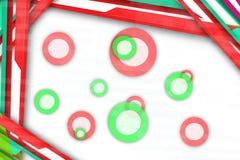 линии multicolr и circels, абстрактная предпосылка Стоковое фото RF