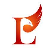 Инициал l логотип хоука вектора оранжевый Стоковая Фотография RF