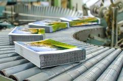 линия отделки магазин печатания печати давления Стоковые Изображения RF