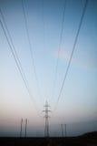 линия передача опоры силы Стоковые Фото