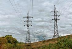 линия передача силы Стоковая Фотография RF