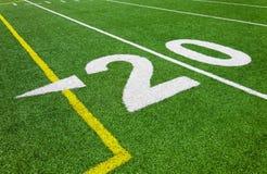 20 линия разметки поля - футбол Стоковые Изображения