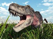 динозавр клиппирования 3d над белизной tarbosaurus тени перевода путя иллюстрация штока